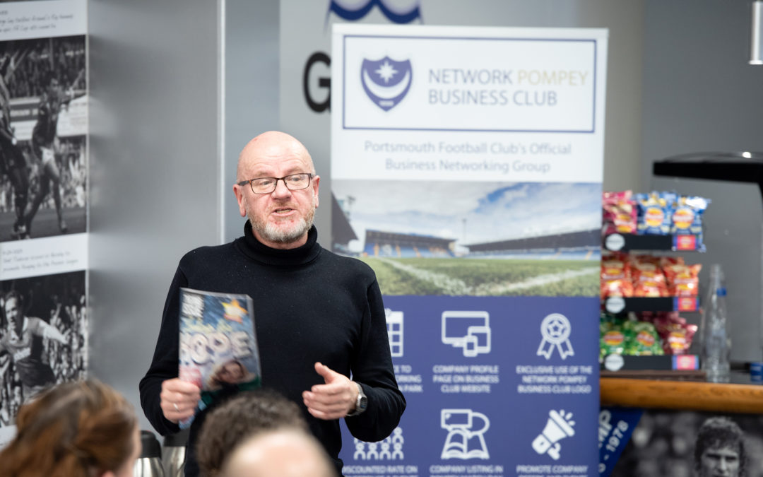 Stephen Robertson speaking at Network Pompey event