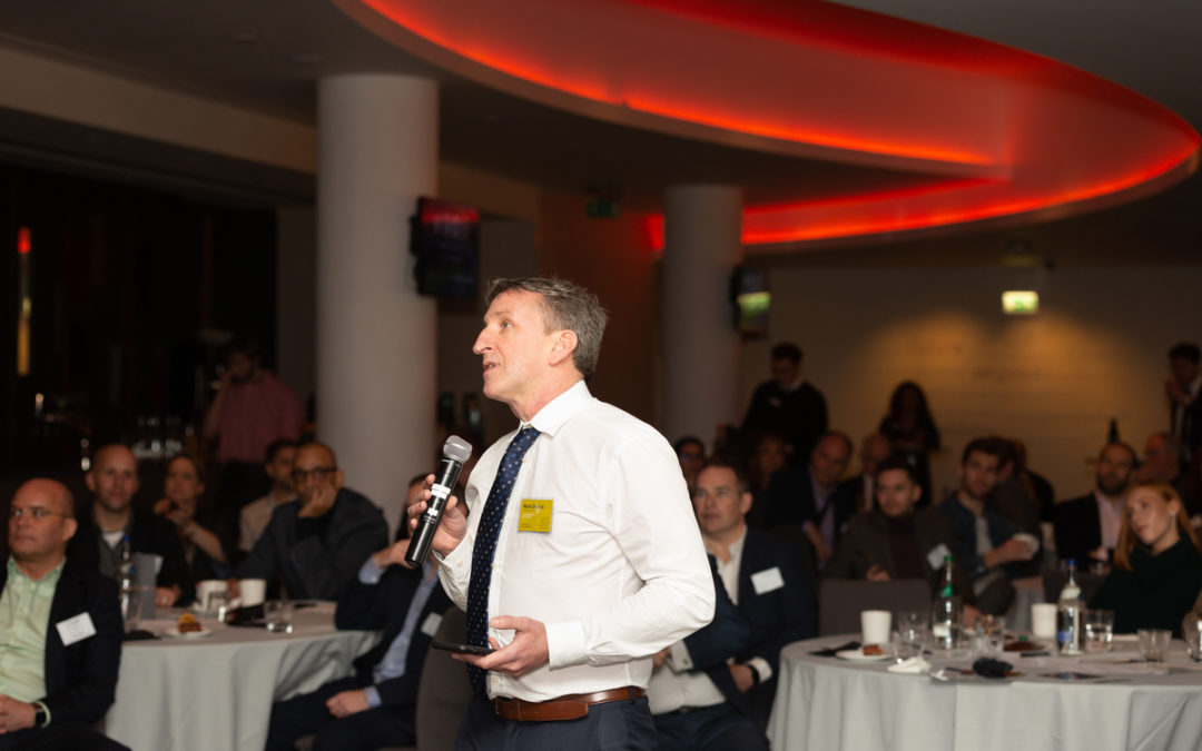 Mark Denton speaking at Twickenham Business Club event