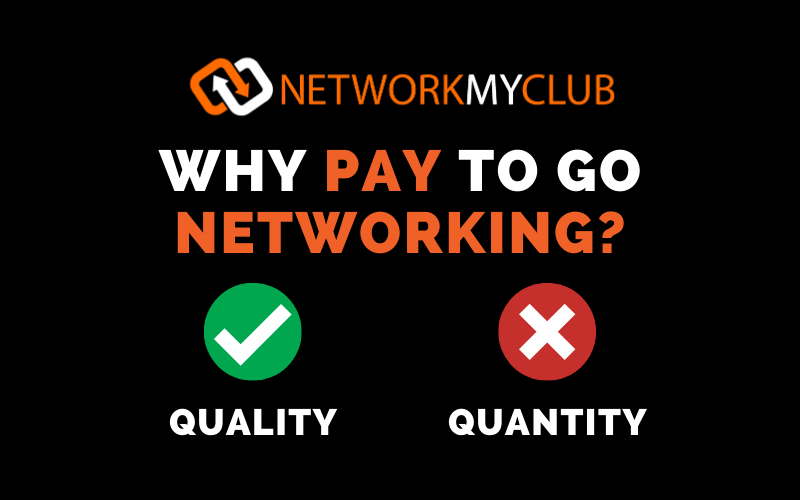 Why pay to go networking