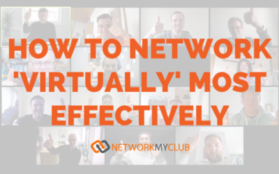 How to network 'virtually' most effectively