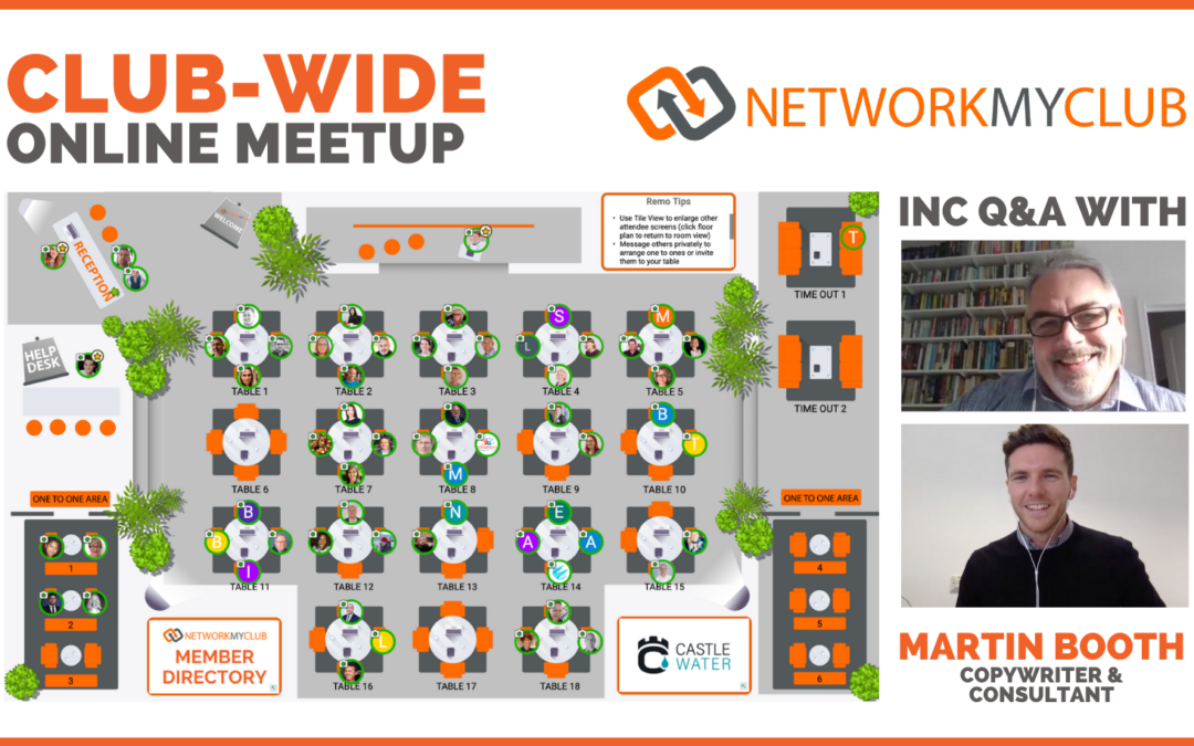 Club-Wide Online Meetup with Martin Booth