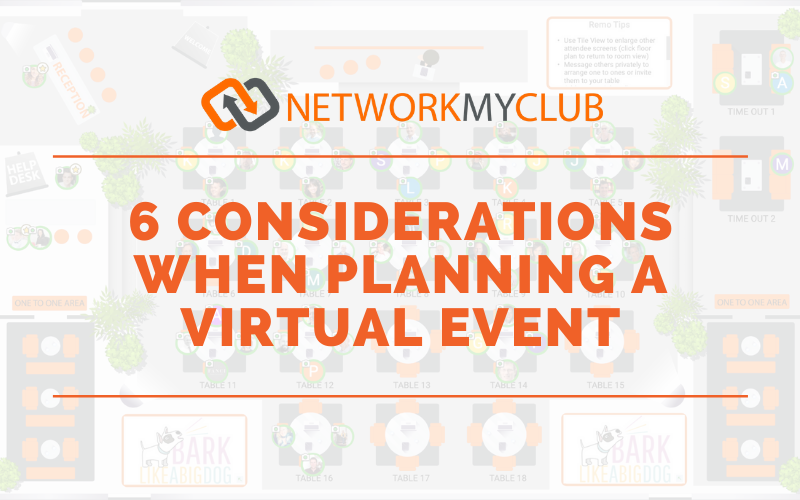 Planning a virtual event blog graphic