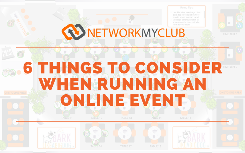 6 Things to Consider when running an online event