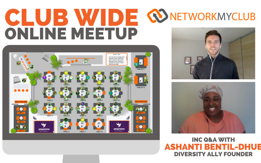 Club-Wide Online Meetup with Ashanti Bentil-Dhue