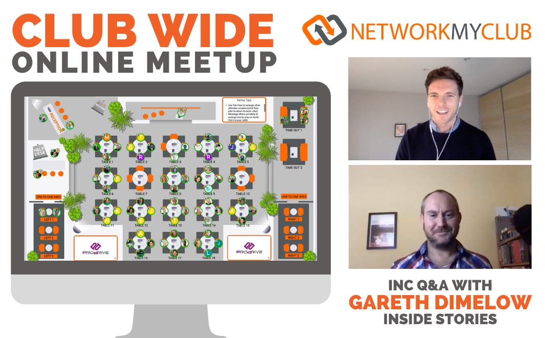 Club-Wide Online Meetup with Gareth Dimelow