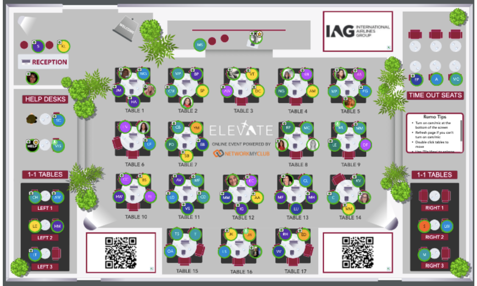 IAG: The Take Off Event Floor Plan